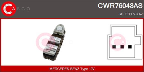 Interrupteur, leve-vitre CASCO CWR76048AS (X1)