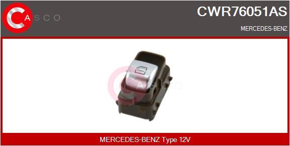 Interrupteur, leve-vitre CASCO CWR76051AS (X1)