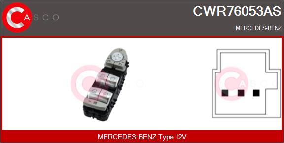 Interrupteur, leve-vitre CASCO CWR76053AS (X1)