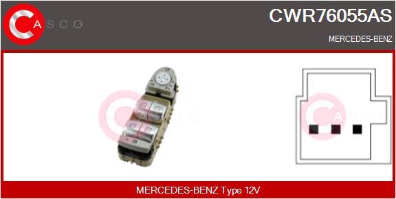 Interrupteur, leve-vitre CASCO CWR76055AS (X1)