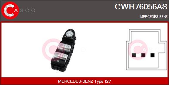 Interrupteur, leve-vitre CASCO CWR76056AS (X1)
