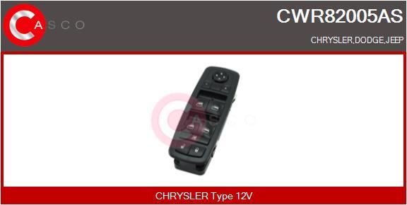 Interrupteur, leve-vitre CASCO CWR82005AS (X1)
