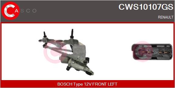 Mecanismes d'essuie glace CASCO CWS10107GS (X1)