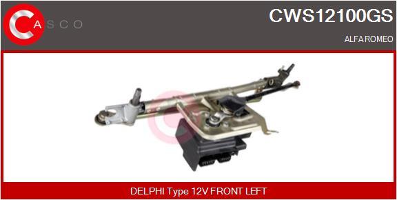 Mecanismes d'essuie glace CASCO CWS12100GS (X1)