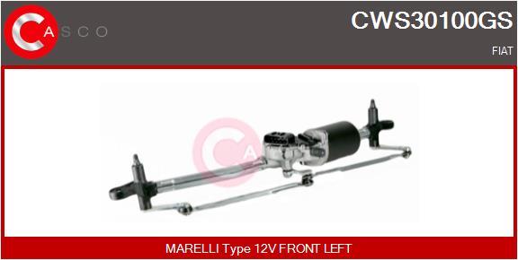 Mecanismes d'essuie glace CASCO CWS30100GS (X1)