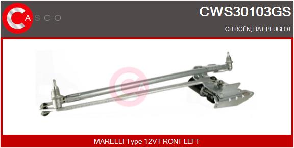 Mecanismes d'essuie glace CASCO CWS30103GS (X1)