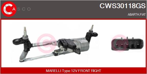 Mecanismes d'essuie glace CASCO CWS30118GS (X1)
