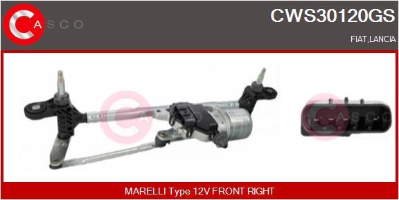 Mecanismes d'essuie glace CASCO CWS30120GS (X1)