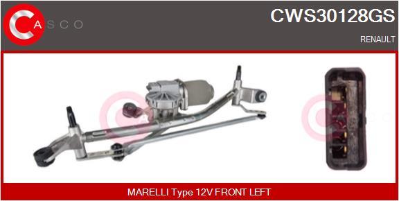 Mecanismes d'essuie glace CASCO CWS30128GS (X1)