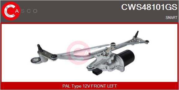 Mecanismes d'essuie glace CASCO CWS48101GS (X1)