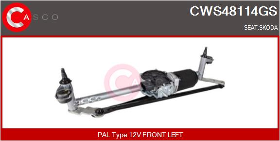 Mecanismes d'essuie glace CASCO CWS48114GS (X1)