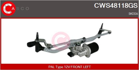 Mecanismes d'essuie glace CASCO CWS48118GS (X1)