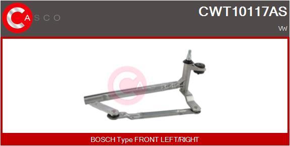 Mecanismes d'essuie glace CASCO CWT10117AS (X1)