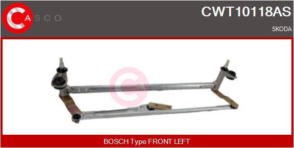 Mecanismes d'essuie glace CASCO CWT10118AS (X1)