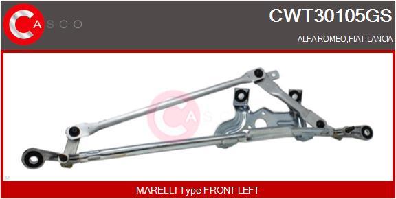 Mecanismes d'essuie glace CASCO CWT30105GS (X1)
