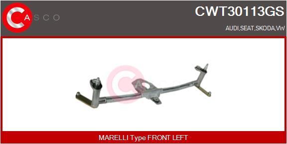 Mecanismes d'essuie glace CASCO CWT30113GS (X1)