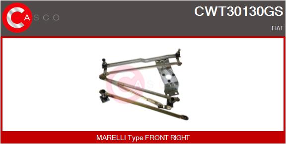 Mecanismes d'essuie glace CASCO CWT30130GS (X1)