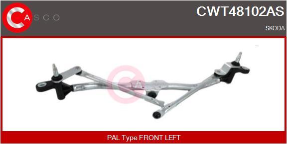 Mecanismes d'essuie glace CASCO CWT48102AS (X1)
