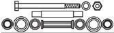 Kit de reparation bras de suspension FRAP F2433 (X1)