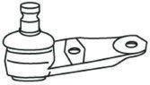 Rotule de suspension FRAP F814 (X1)