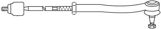 Biellette / rotule direction interieure FRAP FT/368 (X1)