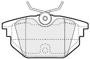 Plaquettes de frein arriere EEC BRP1058 (X1)