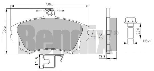 Plaquettes de frein avant BENDIX 510354 (X1)