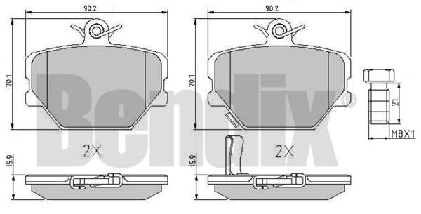 Plaquettes de frein avant BENDIX 510429 (X1)