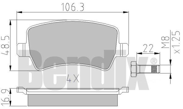 Freinage BENDIX 510528 (X1)