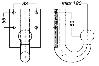 Dispositif de fixation d'attelage WESTFALIA 329042600001 (X1)