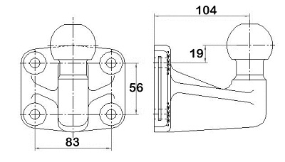 Dispositif de fixation d'attelage WESTFALIA 329141600001 (X1)