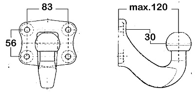 Dispositif de fixation d'attelage WESTFALIA 329062600001 (X1)