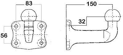 Dispositif de fixation d'attelage WESTFALIA 329089600001 (X1)