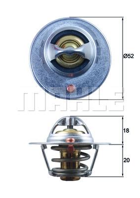 Thermostat/calorstat BEHR TX 185 82D (X1)