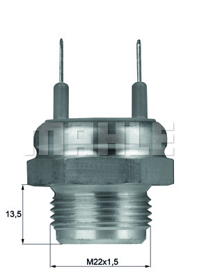 Interrupteur de temperature, ventilateur de radiateur BEHR TSW 4D (X1)