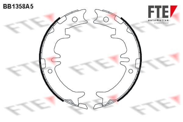 Jeu de mâchoires de frein de frein à main FTE BB1358A5 (X1)