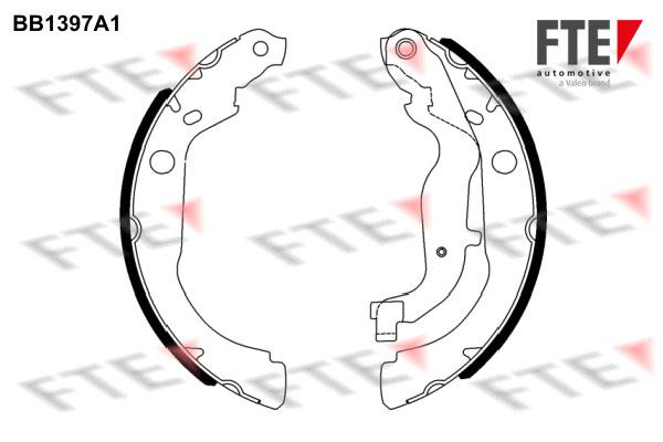 kit de frein arrière simple ou prémonté FTE BB1397A1 (X1)