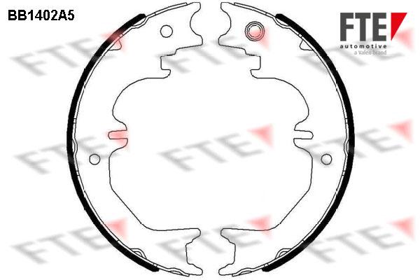 Jeu de mâchoires de frein de frein à main FTE BB1402A5 (X1)