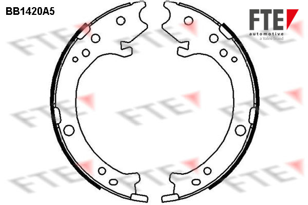 Jeu de mâchoires de frein de frein à main FTE BB1420A5 (X1)