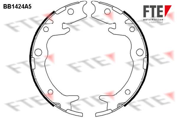 Jeu de mâchoires de frein de frein à main FTE BB1424A5 (X1)