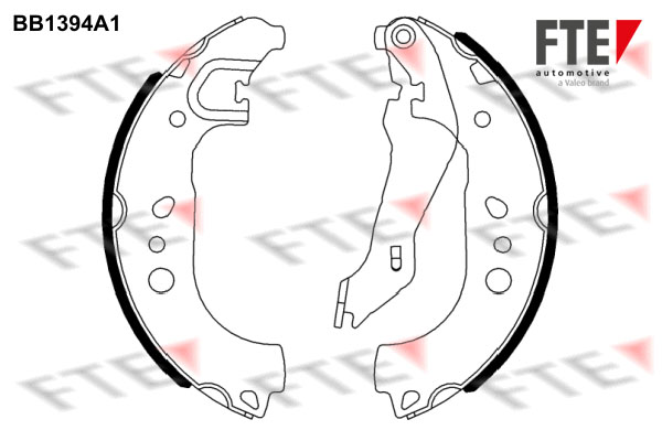 kit de frein arrière simple ou prémonté FTE BB1394A1 (X1)