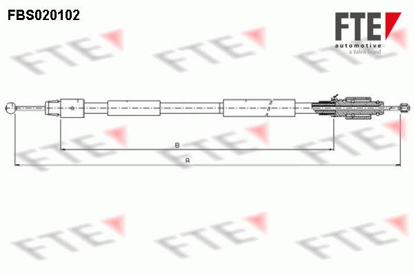 Cable de frein à main FTE FBS020102 (X1)