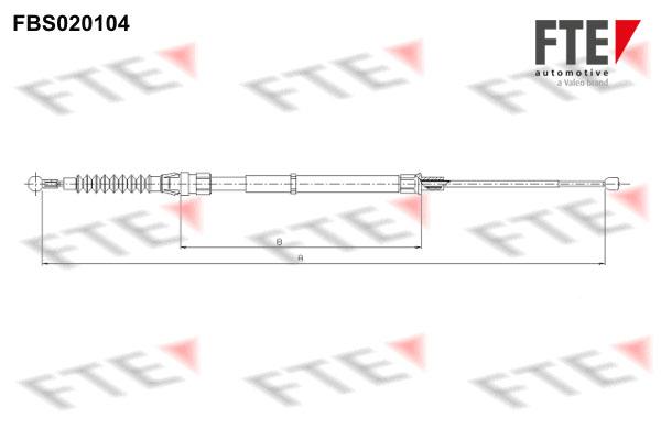 Cable de frein à main FTE FBS020104 (X1)