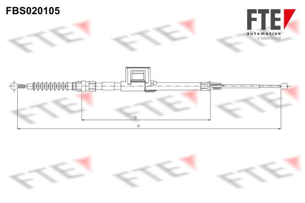 Cable de frein à main FTE FBS020105 (X1)