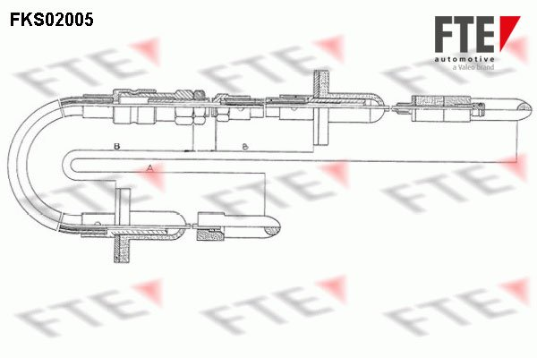 Cable d'embrayage FTE FKS02005 (X1)