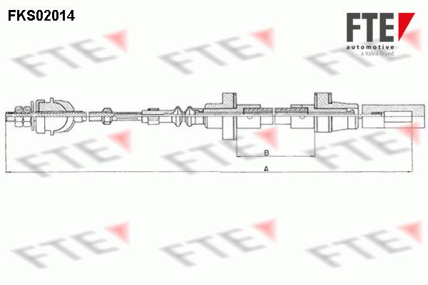 Cable d'embrayage FTE FKS02014 (X1)