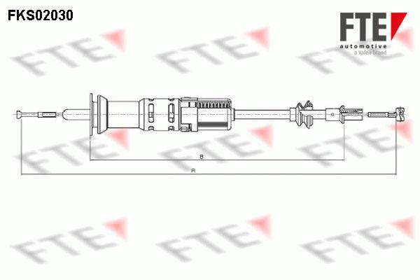 Cable d'embrayage FTE FKS02030 (X1)