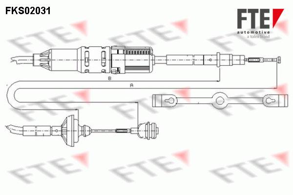 Cable d'embrayage FTE FKS02031 (X1)