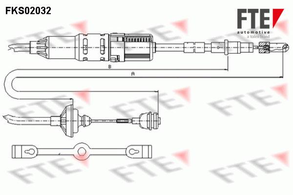 Cable d'embrayage FTE FKS02032 (X1)