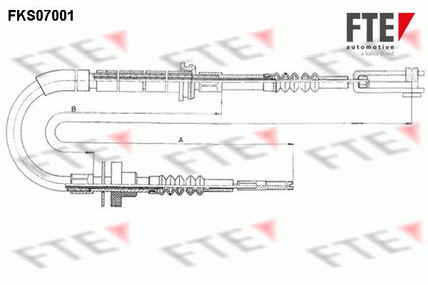 Cable d'embrayage FTE FKS07001 (X1)